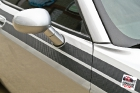 Custom designed and cut Di-Noc© carbon fiber vinyl stripe installed