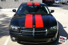 Custom designed cut vinyl racing stripes installed