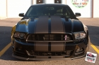 Custom designed, printed, and laminated black matte vinyl racing stripes, hash marks, GT/CS decals, installed