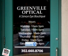 Greenville Optical - Door Lettering