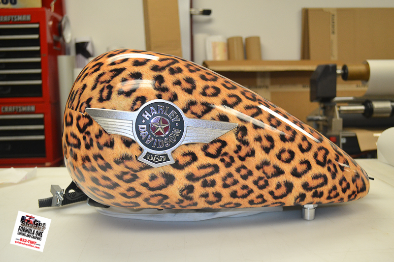 custom designed leopard print wrap