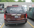 Trained to Protect - Lettering - Honda Pilot